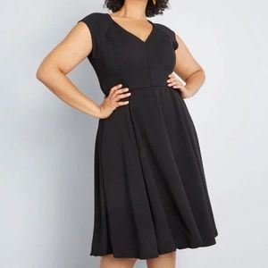 Modcloth Date Night Done Right Black A Line Dress